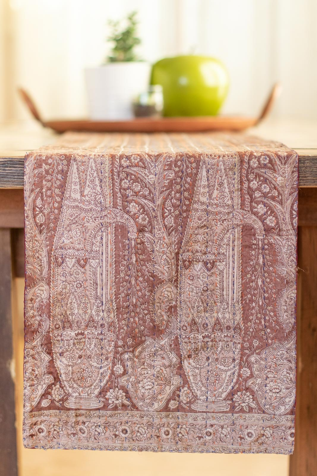 Kantha Table Runner Silk Blend F3
