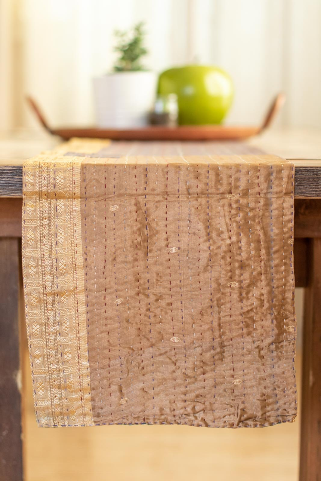 Kantha Table Runner Silk Blend G2