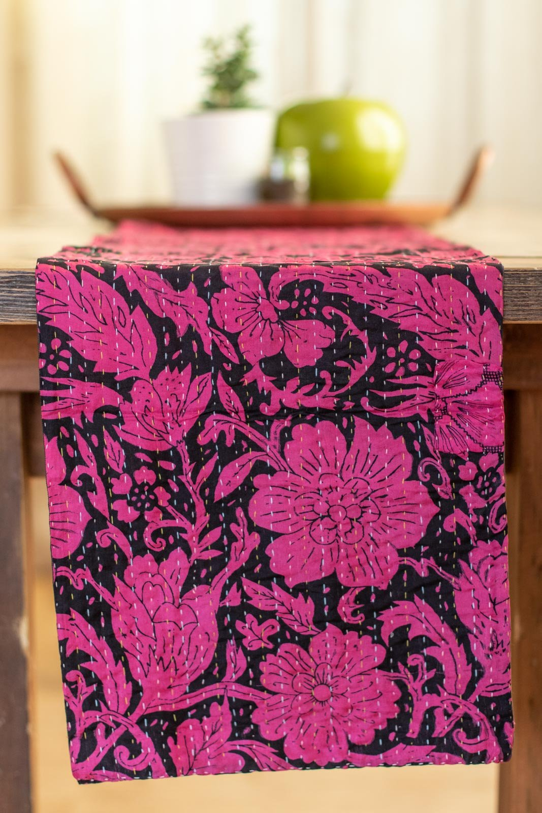Kantha Table Runner Silk Blend G4