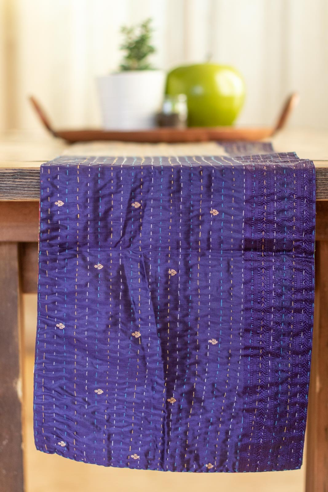 Kantha Table Runner Silk Blend H4