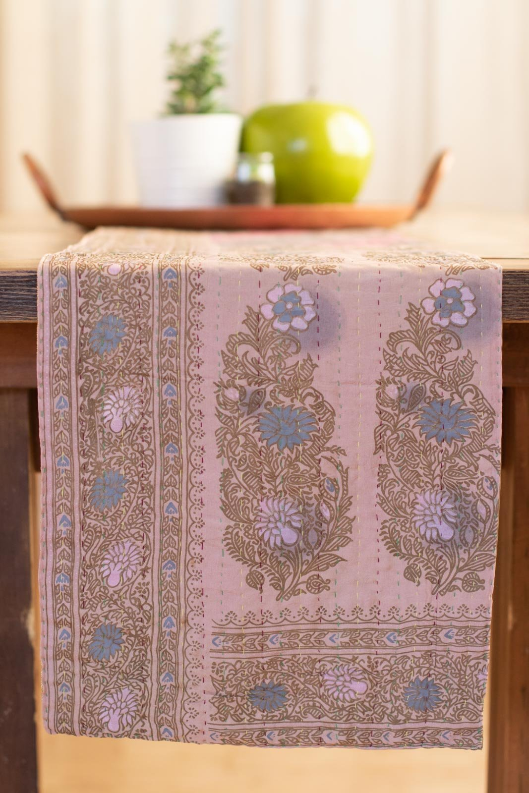Kantha Table Runner Silk Blend K2