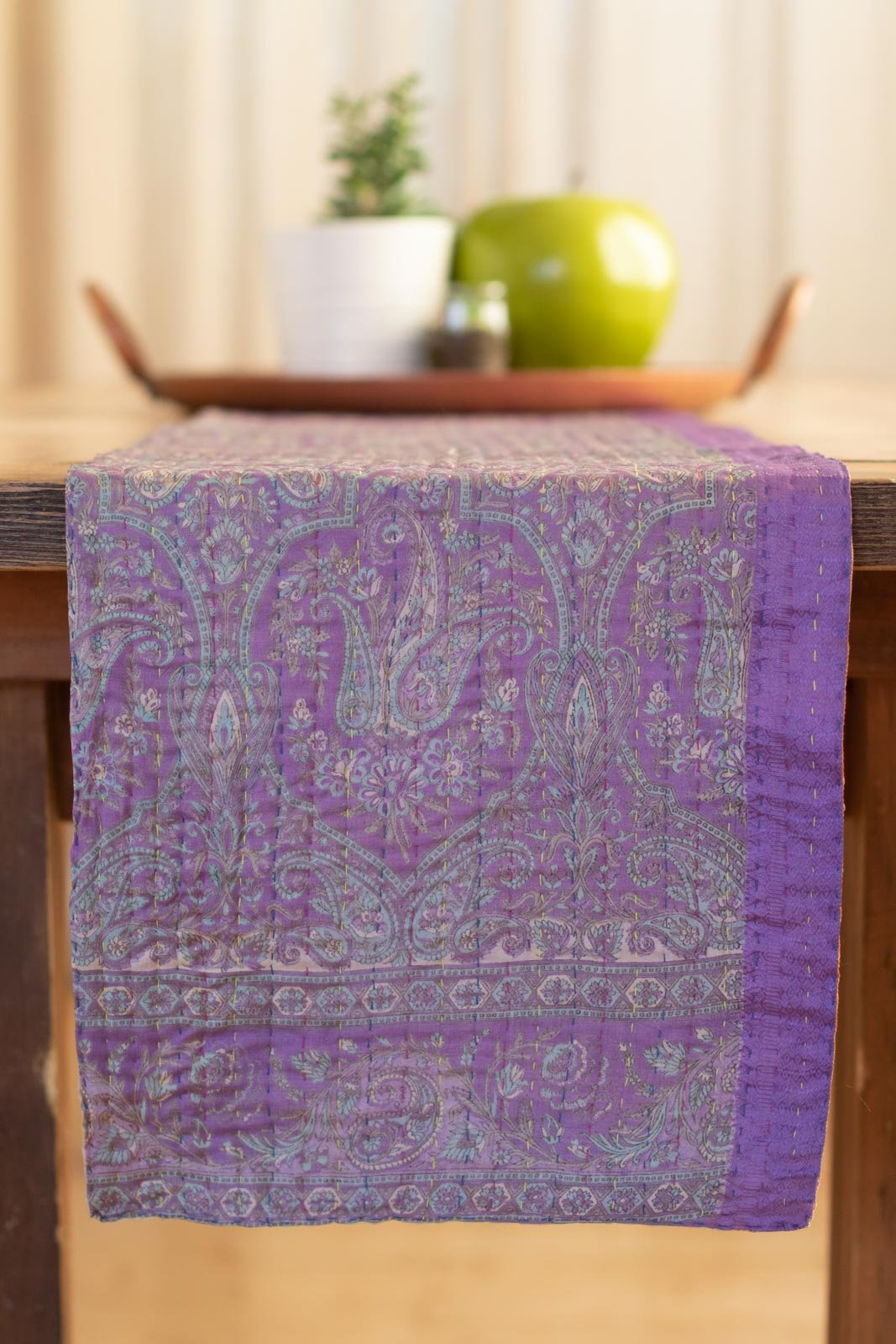 Kantha Table Runner Silk Blend K3