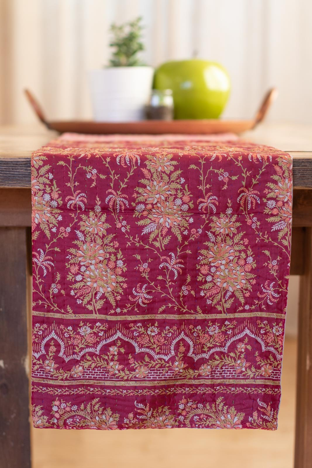 Kantha Table Runner Silk Blend K4