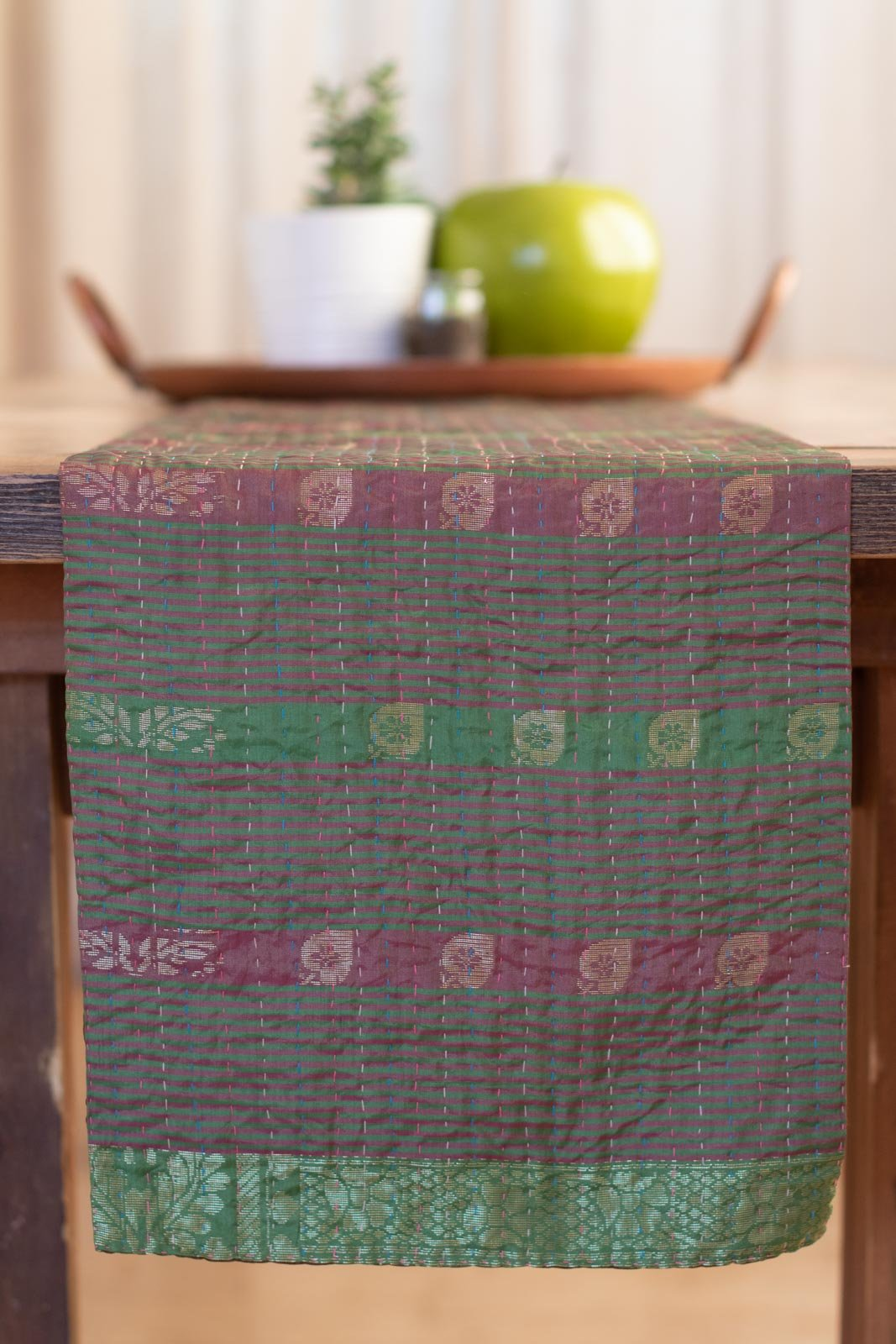 Kantha Table Runner Silk Blend K6