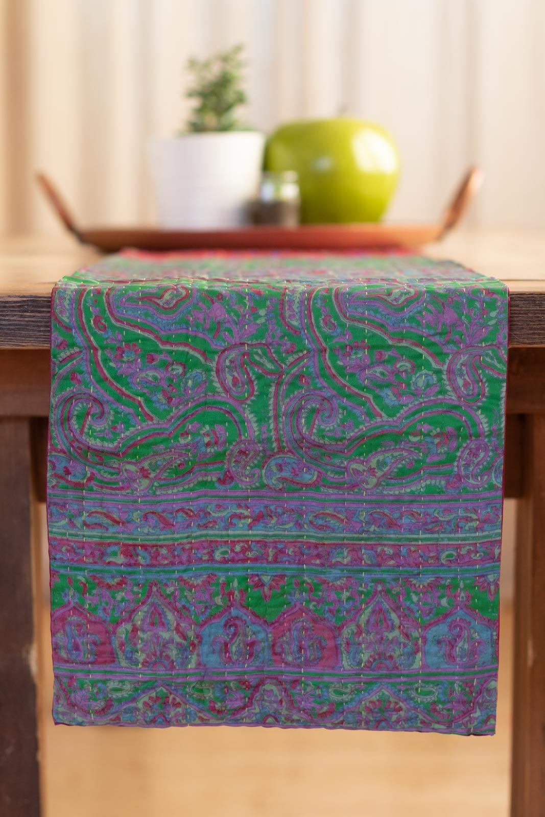 Kantha Table Runner Silk Blend K7