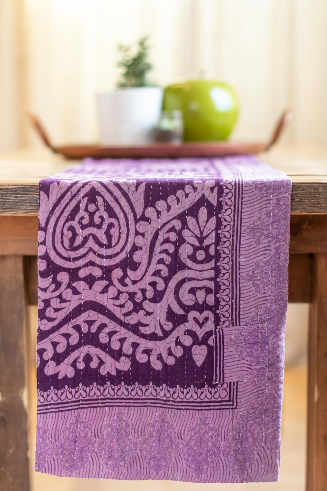 Kantha Table Runner Cotton B1