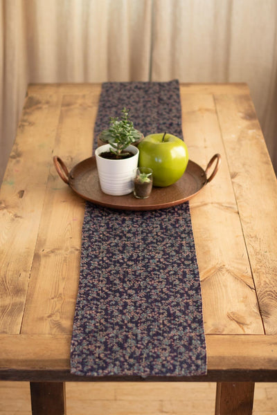 Kantha Table Runner Silk Blend J2