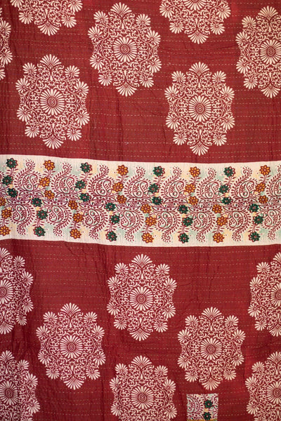 Adventure No. 5 Kantha Large Throw