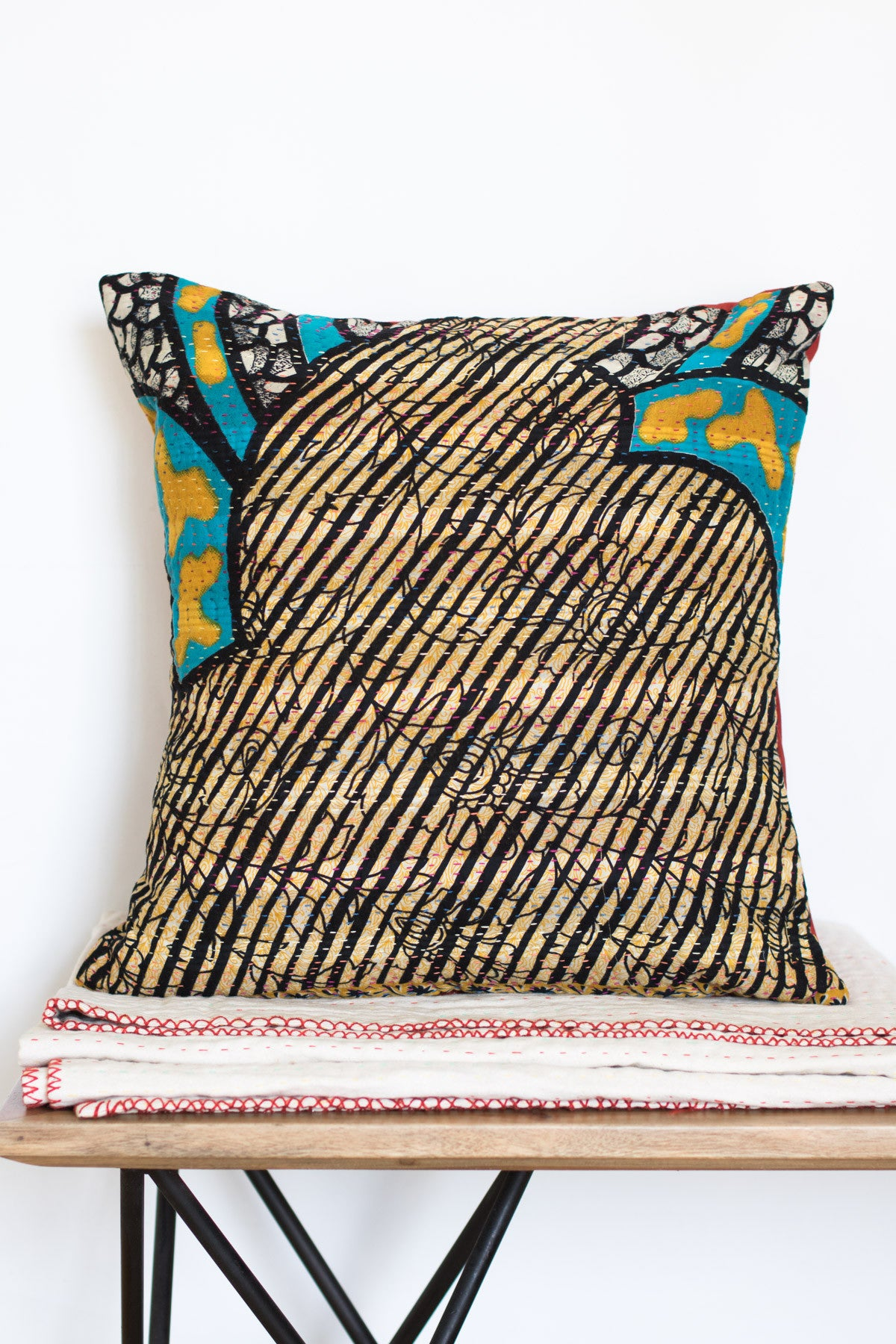 Decorative Kantha Throw Pillow Covers