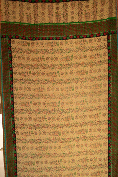 Chestnuts Holiday Kantha Throw