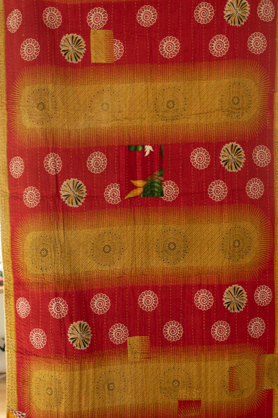 Jolly Holiday Kantha Throw
