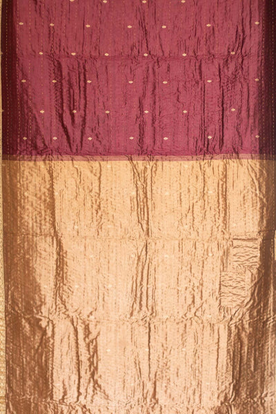 Cedar Holiday Silk Blend Kantha Throw