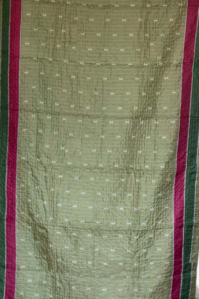 Rosemary Holiday Silk Blend Kantha Throw