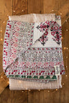 Ice Holiday Silk Blend Kantha Throw