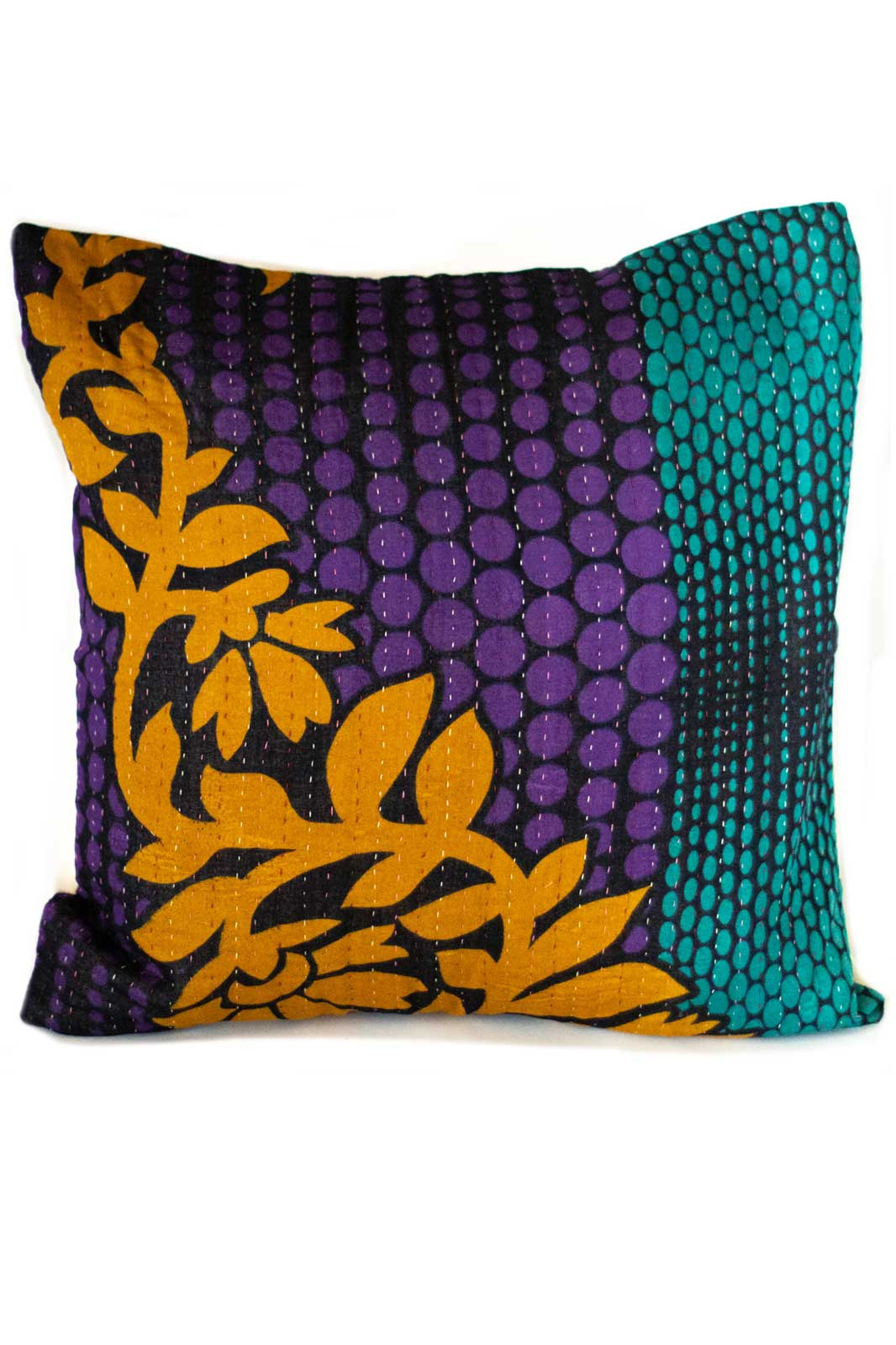 Intricate no. 3 Kantha Pillow Cover