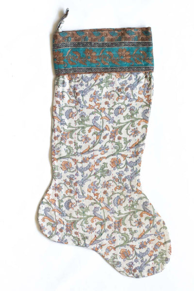 Kantha Christmas Stocking