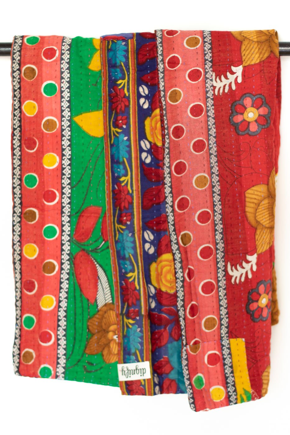 Landscape Kantha Throw