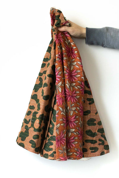 Kantha Christmas Tree Skirt Joy 6