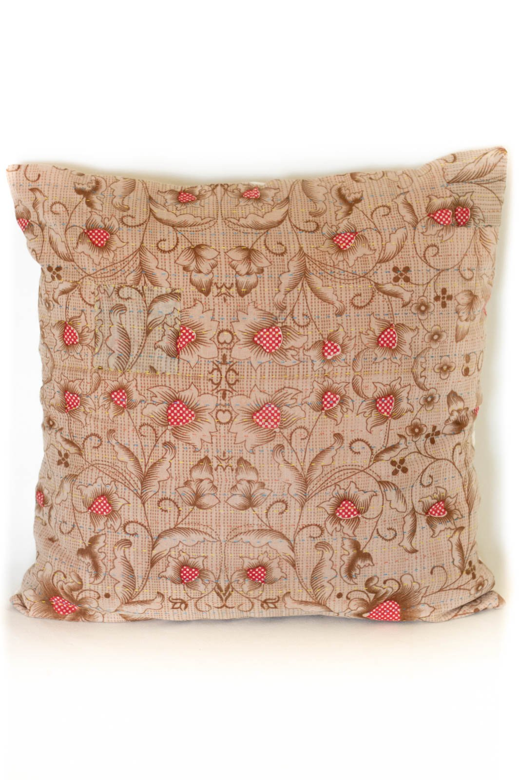 Intricate no. 9 Kantha Pillow Cover