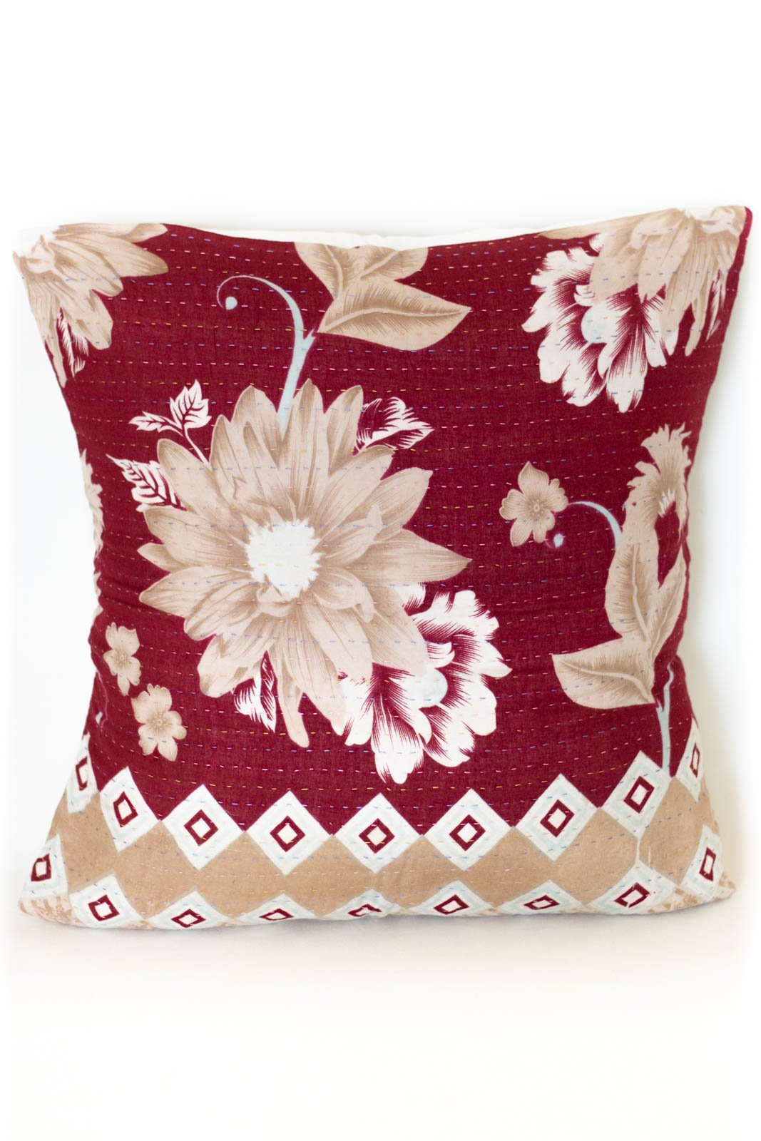 Unique no. 5 Kantha Pillow Cover