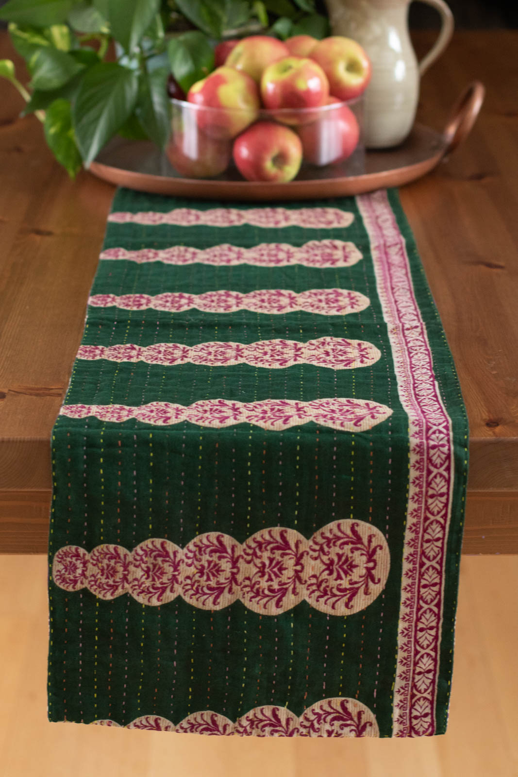 Kantha Table Runner Cotton D4