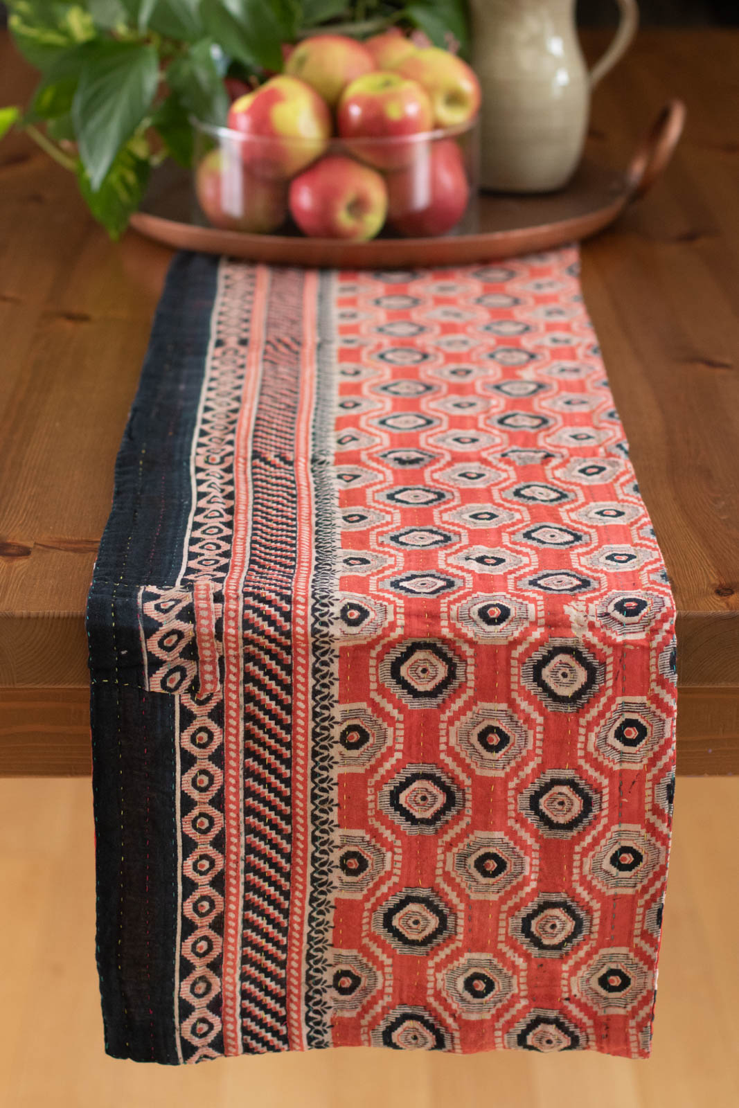 Kantha Table Runner Cotton F1
