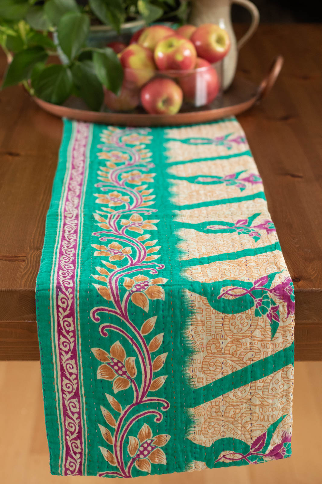 Kantha Table Runner Cotton A2