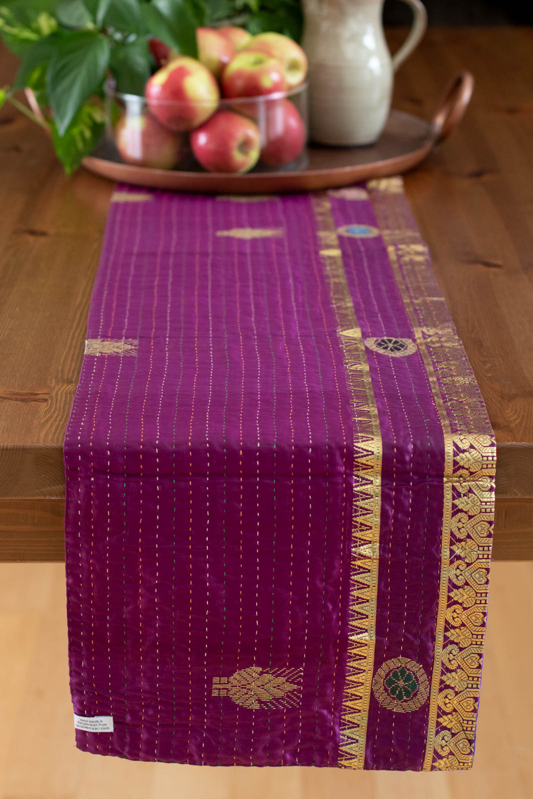 Kantha Table Runner Silk Blend B2