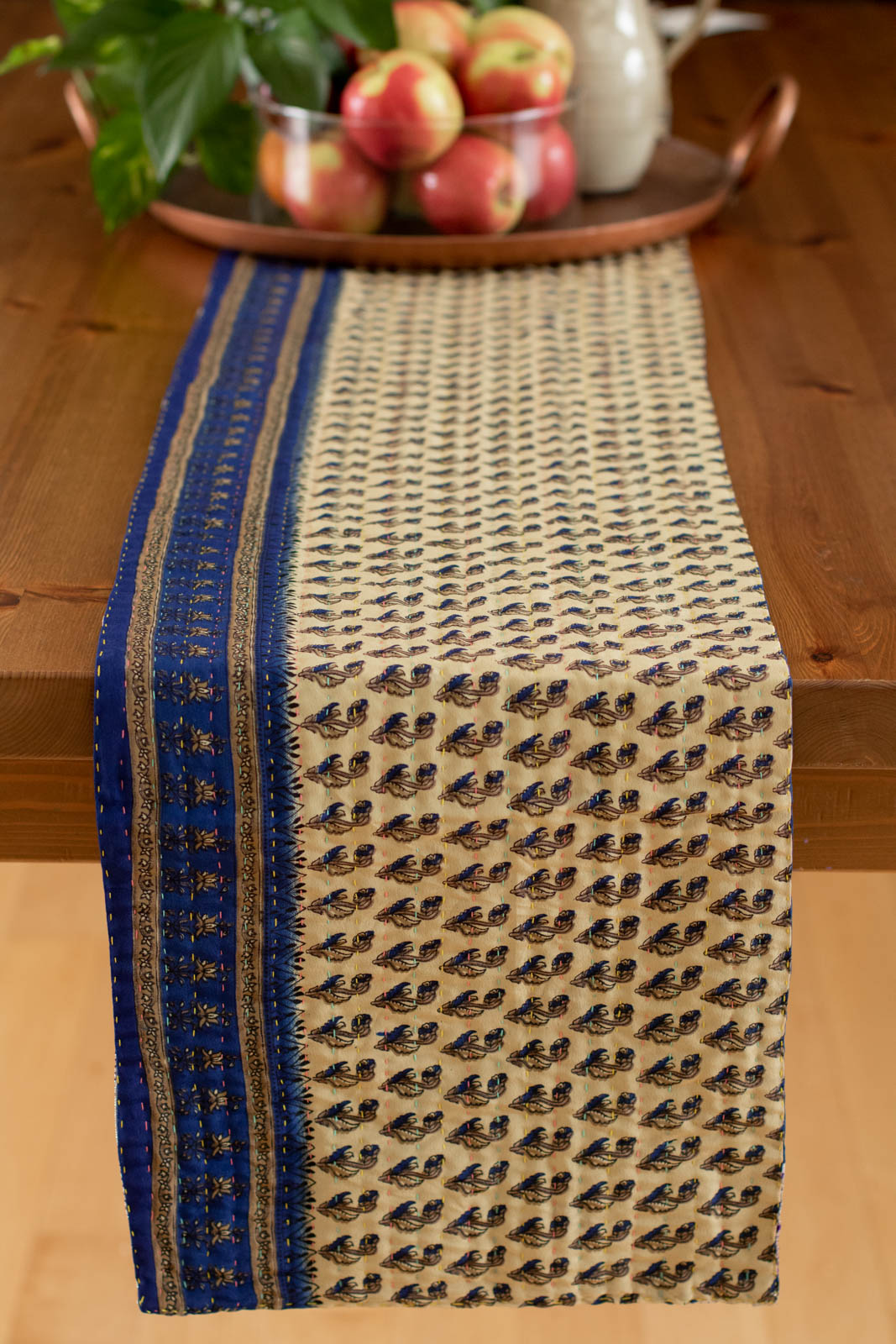 Kantha Table Runner Silk Blend C2