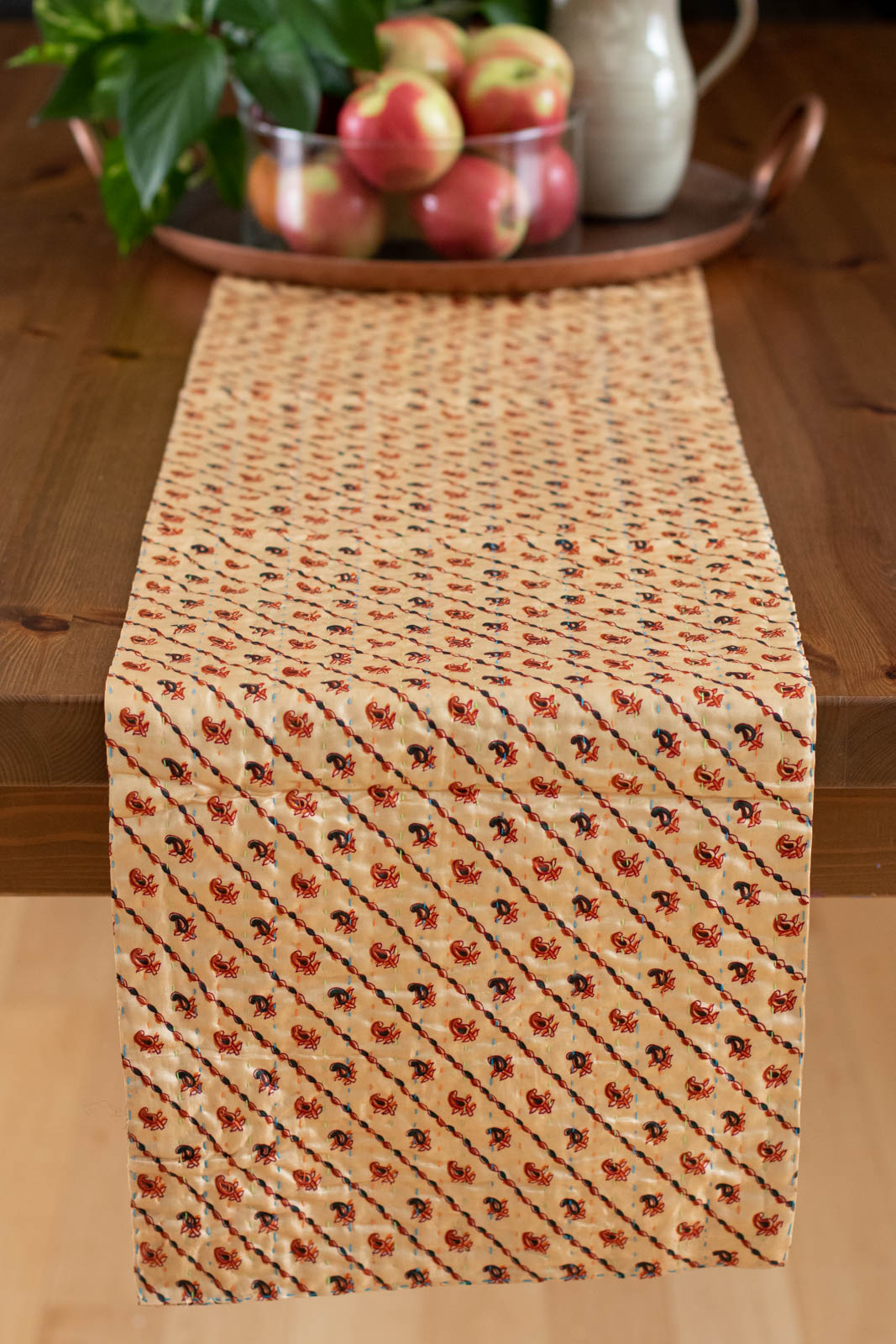 Kantha Table Runner Silk Blend D4