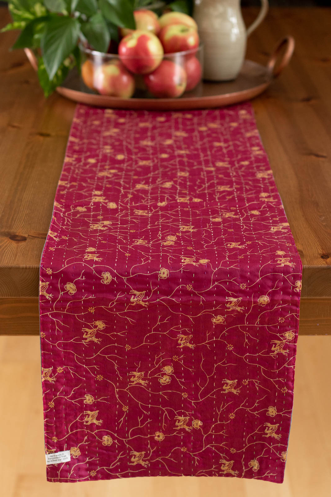 Kantha Table Runner Silk Blend E2