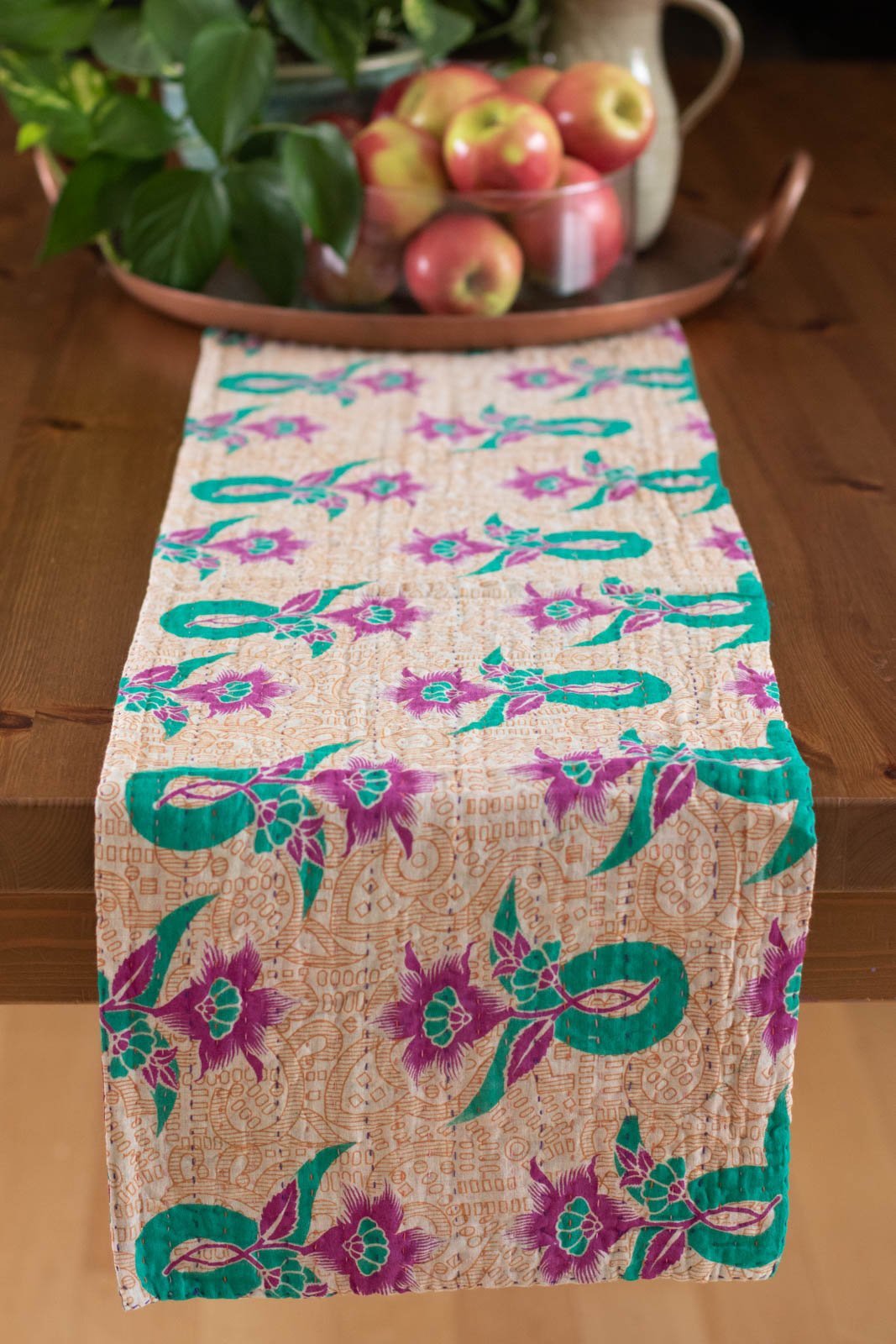 Kantha Table Runner Cotton D6