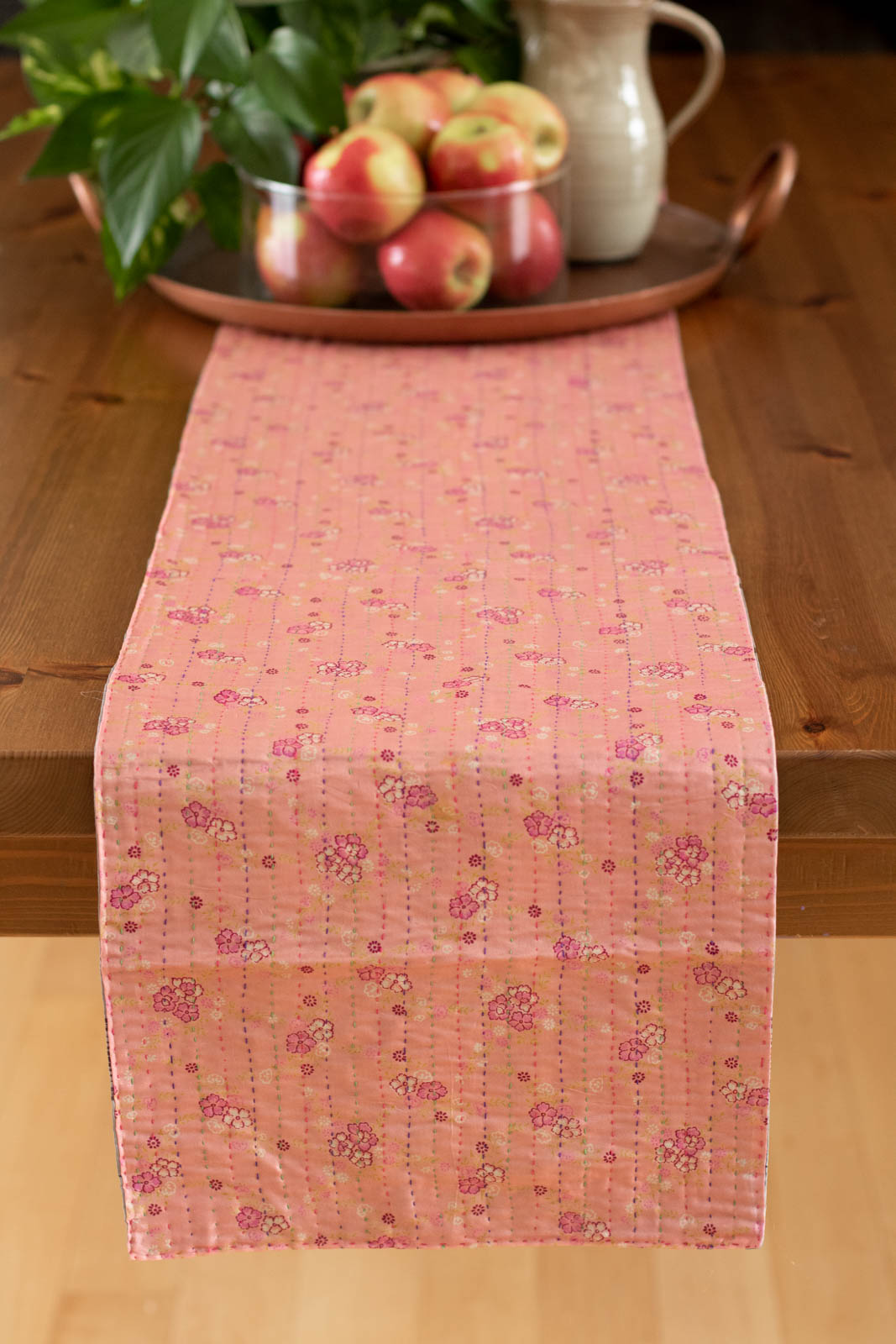 Kantha Table Runner Silk Blend F1