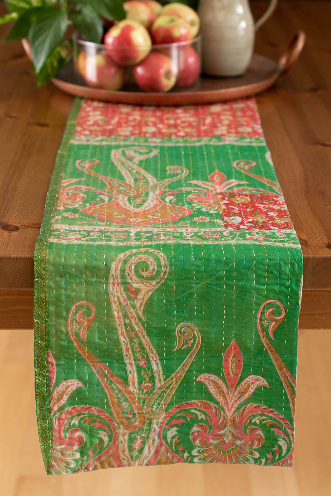 Kantha Table Runner Silk Blend F2