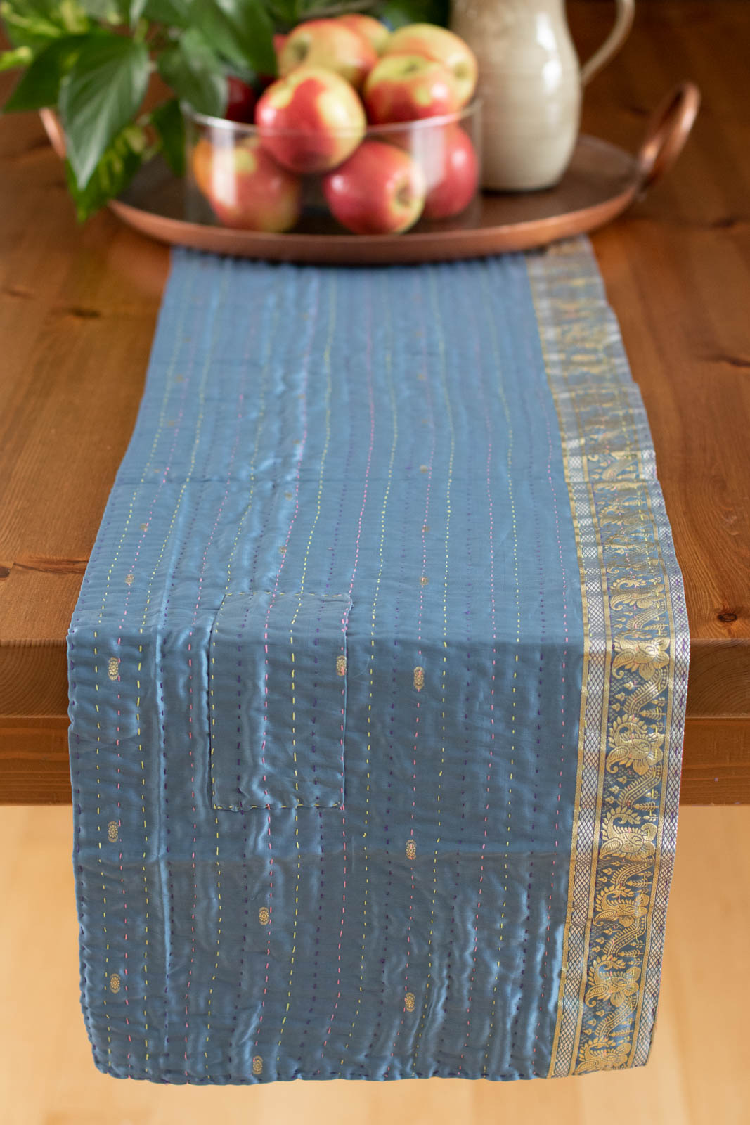 Kantha Table Runner Silk Blend F4