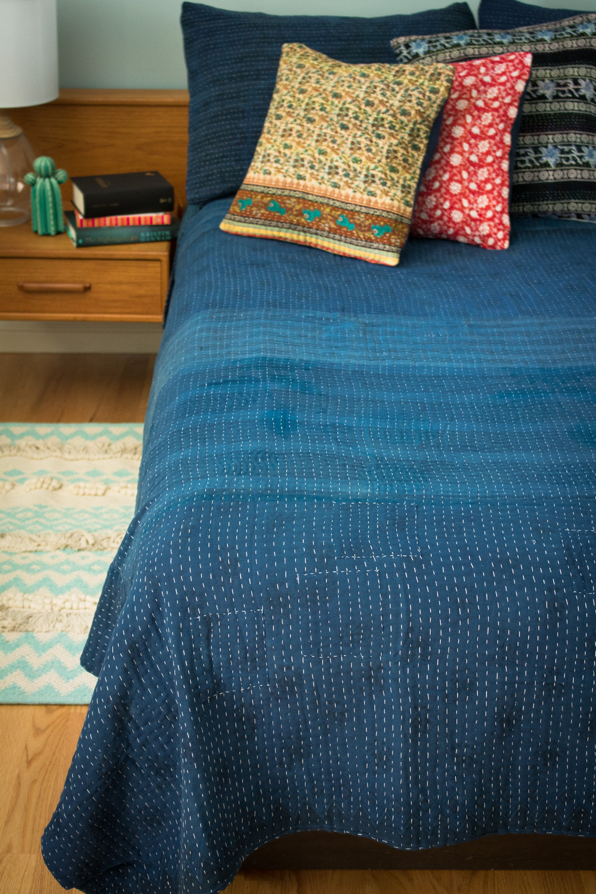 Navy Quilt Bedding Hand Dyed Indigo Bedding Dignify