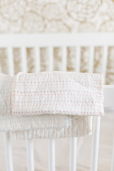 Kantha Baby Swaddle Quilt
