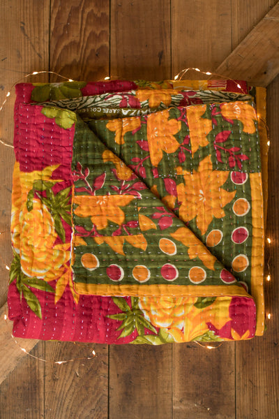 Kantha Holiday Throw