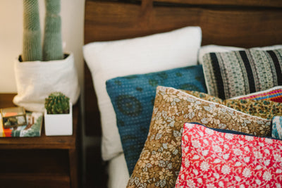Delicate no. 3 Kantha Pillow Cover