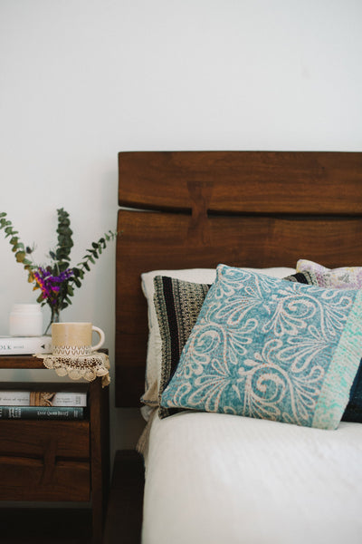 Delicate no. 7 Kantha Pillow Cover