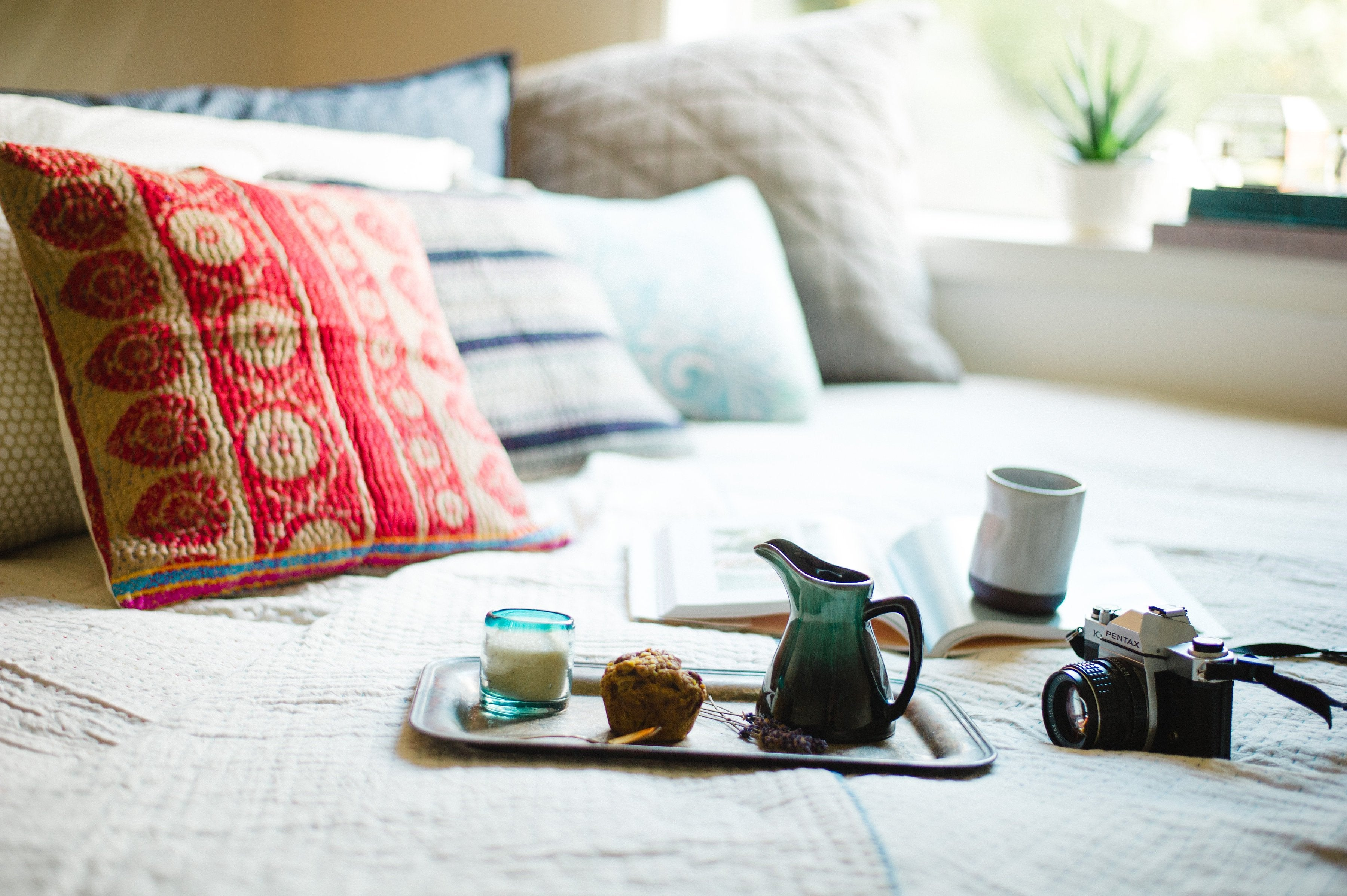 The BEST decorative throw pillow cover, kantha-style. | dignify