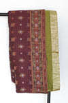 Glad Silk Blend Kantha Throw - dignify  - 1