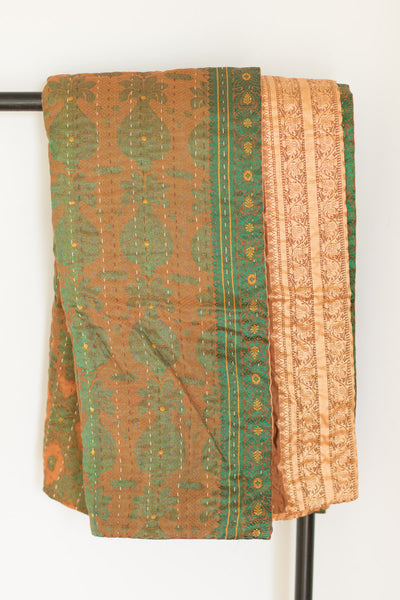 Deluxe Silk Blend Kantha Throw - dignify  - 1