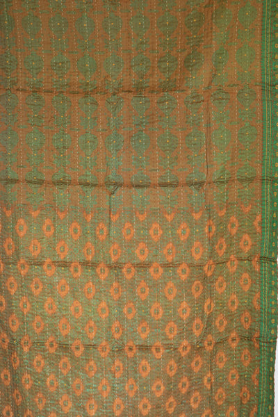 Deluxe Silk Blend Kantha Throw - dignify  - 4