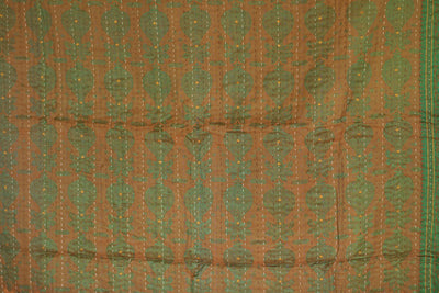 Deluxe Silk Blend Kantha Throw - dignify  - 5