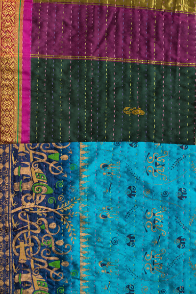 Kantha Table Runner Silk Blend A2
