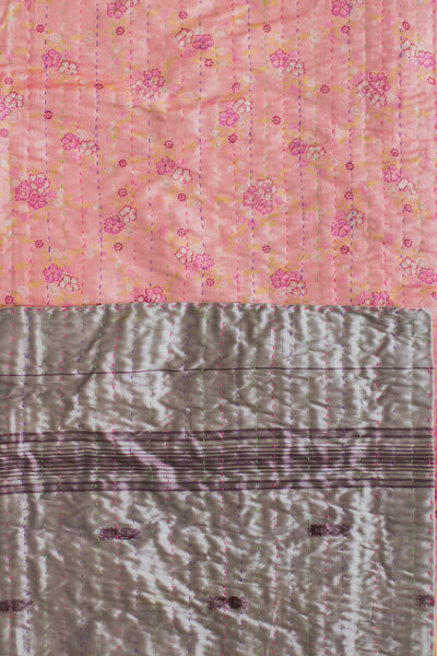 Kantha Table Runner Silk Blend A3