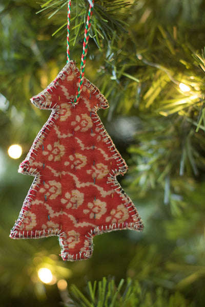Kantha Stitched Tree Ornament - dignify  - 1