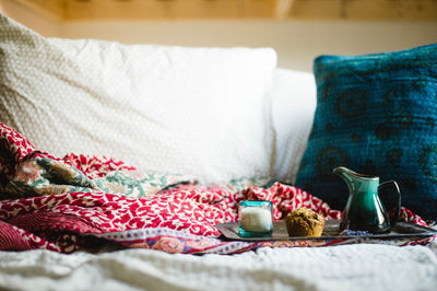 Kantha Blanket - Large Bed Throw