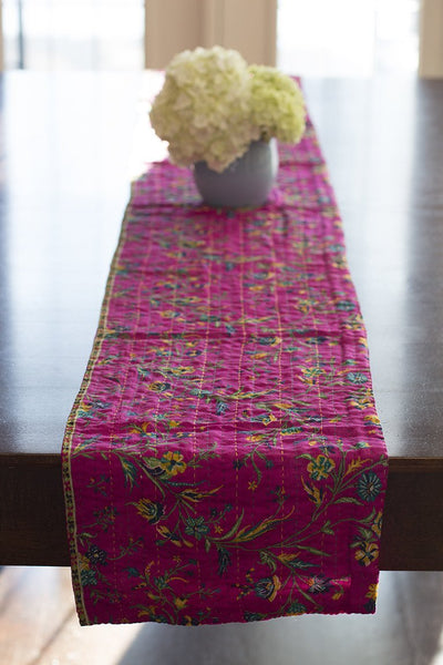 Kantha Table Runner Silk Blend A1